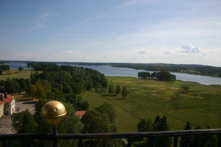 Utsikt över Bysjön från kyrktornet
